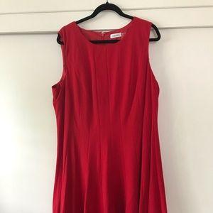 RED size 18 dress Calvin Klein Cute swing cut